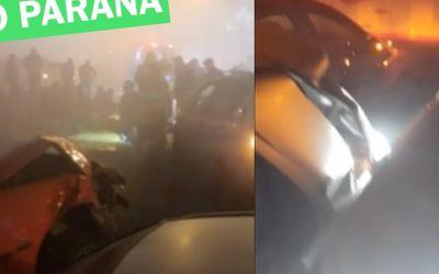Acidente com mais de 20 veículos na BR-277 deixa 8 mortos no Paraná