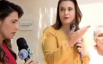 Repórteres de Globo e SBT se estranham durante entrevista ao vivo